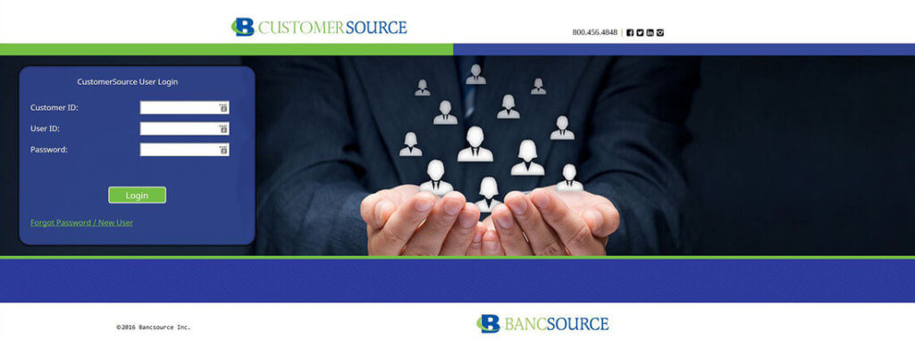 Banking equipment services portal CustomerSource
